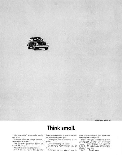 Volkswagen Ad Campaign  from 1959